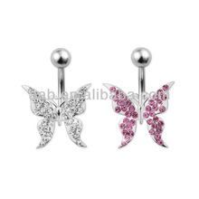 Body Jewelry - Silver Belly Bars SBBU48