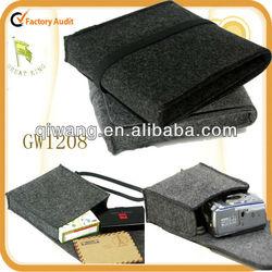 GW1208 Felt Organizer Storage BagCosmetic bag Coins wallet USB Pouch Earings Case Keys Purse Card Holder