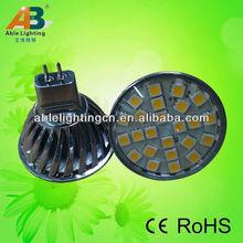 high power 3.5w smd led mr 16 spotlight 12v dc/ac 5050 24 smd