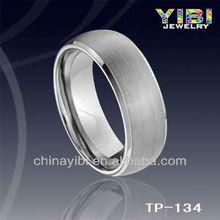 Men's Comfort Fit Tungsten Band Ring Elegant Princess Crown Rings Vners Ring Man Black Stone