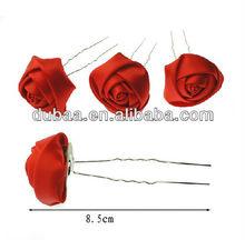 "3.3"" Flower Bud Hairpin,Fabric Flower Decoration Hair Stick,Popular Gifts Crafts,Hair Forks Sticks Pins"