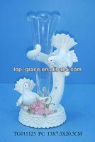 polyesin dove crafts wedding vase