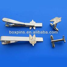 promotional cufflink and tie clip, wholesale cufflink tie clip set