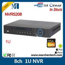 cheap Dahua 8 channel 1U NVR NVR5208 support 8ch. 1080P ip camera onvif2.0 HDMI VGA output