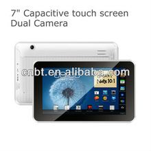 Fashionable best 7 inch tablet android with keyboard and sim card with Dual camera