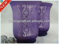 silver patterns glass candleholder