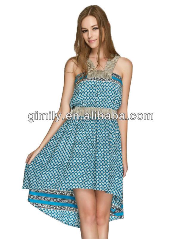 Lady Short Dress Summer Smart