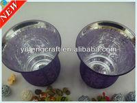 electroplating silver glass candleholder