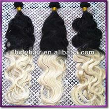 2013 quality brand 100% human hair two tone braiding hair