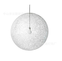 Wool globe contemporary chandelier white color
