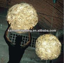 Decorative brass pendant lighting for wedding