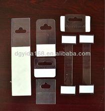 plastic J hook hang tab