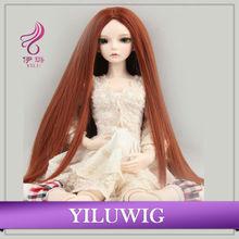 fahion long brown straight BJD dolls wig