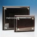 De alto grado de sólidos de oficina venta al por mayor de la placa de madera en blanco con cubierta cristal de cristal