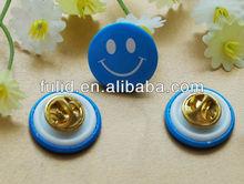 custom children plastic badge smile face