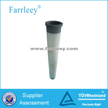 Cement silo pleated polyester filter cartridge