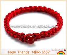 2013 Fashion Handmade Braided Red String Jade Bracelet