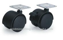 plastic twin wheel double wheel swivel furniture caster