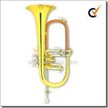 Bb Key Gold Lacquer Flugelhorn (FG8611)