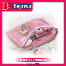 Nylon mesh cosmetics organize bag