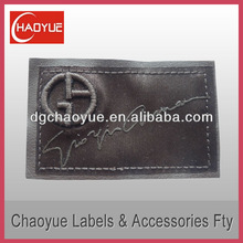 Cutting leather labels/Classical leather labels with sew-on logo