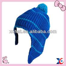 Ear protect blue pom fashion accessory hat headwears
