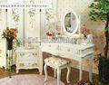 blanco cheval mdf decoración de madera armario vestidor mesa wihte espejo de diseño para los muebles del dormitorio