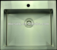 Multifunctional stainless steel at the top of the installation of new single and double bowl stainless steel sink kitchen