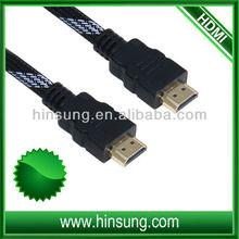 daul color nylon mesh sleeve hdmi cable