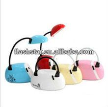 Hot sale,fashionable handbag shape folding led desk lamp,recharge desk lamp