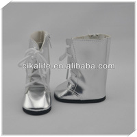 12 inch silver flat doll shoes for american girls