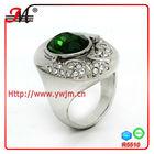 jingmei fashion emerald diamond men's palladium rings 2013 R5510F