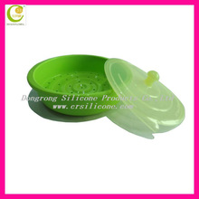 Beautiful & custom design lovely food grade foldable silicone steamer bowl for promotional present