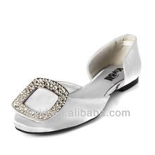 2013 Flat bottom bag toe sandals with metal buckles and diamond