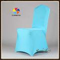 Luz de color turquesa lycra/la boda del spandex cubierta de la silla de la boda para