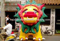 2013 custom made inflatable chinese lion/ inflatable promotional chinese lion