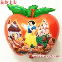 Apple Cartoon Shape Mylar Balloons
