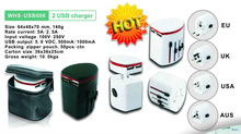 2013 new product world travel adaptor plug with usb