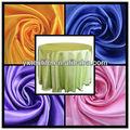 baratos da china fábrica de tecido de cetim para toalha de mesa elegante