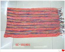 Red fringe ring scarf hanger pashminas and scarf muslim