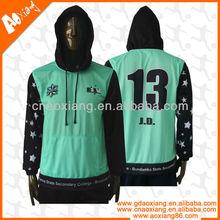 good quality custom varsity plaid hooded sweatshirt sublimation