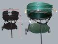 45cm simples série carvãovegetal grill, espeto para churrasco motor