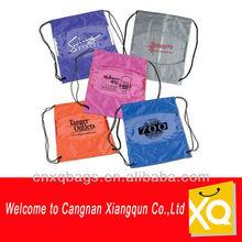 Fashionable fold up polyester drawstring bag