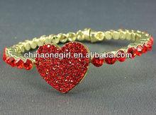 Rhinestone Heart Magnetic Bracelet