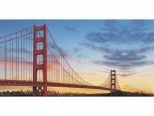 Bn121 San Francisco Golden Gate Bridge Cars Stunning Travellers Banner Sign