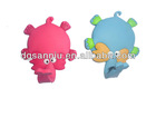 3D cute elephant shaped flexional flectional nose soft pvc rubber fridge magnet