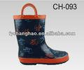 letras inglês crianças botas de borracha chuva estilo cowboy