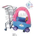 Tuq-hr. Chariot de bande dessinée, enfants chariot, jouet amusant chariottissu/panier/voiture
