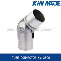 Adjustable railing tube connector