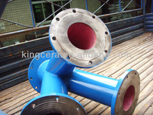 Superior Quality Wear Resisting Ceramic Lined Steel Tee
